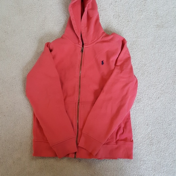d948a9c2 Girls Coral Polo RL zip-up hoodie size large 14-16